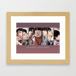 BTS LOVE YOURSELF Framed Art Print