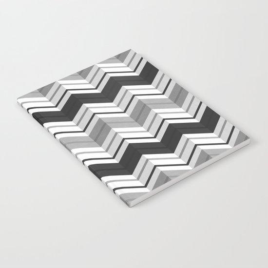 CHEVRON STRIPES - BLACK Notebook