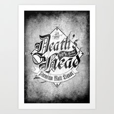 Death's Head Liquor Art Print