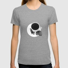 Coffee Cup - Black & White T-shirt