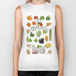 Eat A Vegetarian Biker Tank