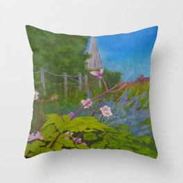 Chichester Bishops Palace Gardens Throw Pillow