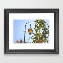 Lamp lit Afternoon Framed Art Print