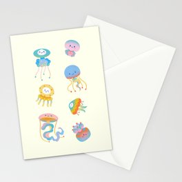 Pastel Jellyfish Stationery Cards