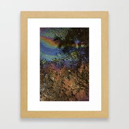 Oil on Water Framed Art Print