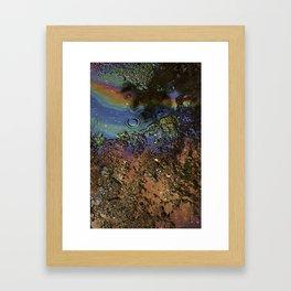 Oil on Water Framed Art Print