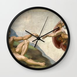 Michelangelo, The Creation of Adam, 1510 Wall Clock