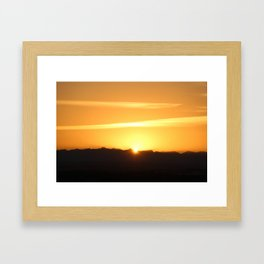 And the sun will set again Framed Art Print