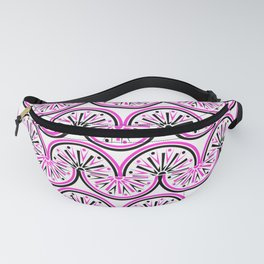 abstract pink and black carpet  with beutiful geometric designs Fanny Pack