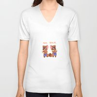 rug V-neck T-shirts featuring RUG DEALERS by decapiteight