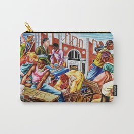 """African American Classical Masterpiece """"The building of Savery Library"""" by Hale Woodruff Carry-All Pouch"""