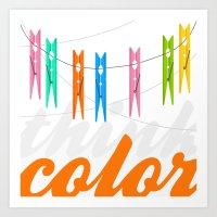 Think color Art Print
