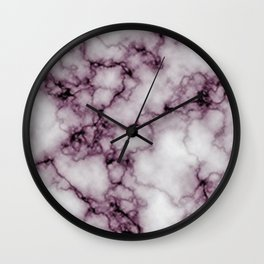 Pink grey Marble | Marbre Rose gris Wall Clock