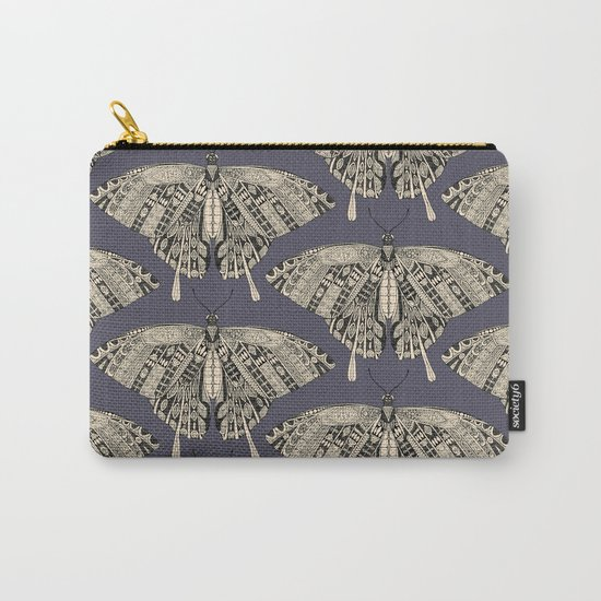 swallowtail butterfly dusk black Carry-All Pouch