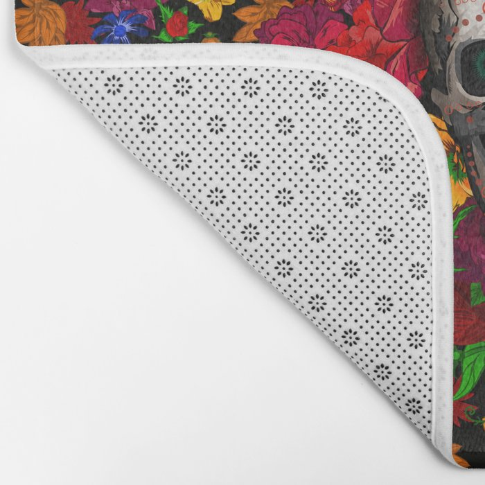 Day of the dead sugar skull flower iPhone 4 4s 5 5c 6, ipod, ipad, pillow case Bath Mat