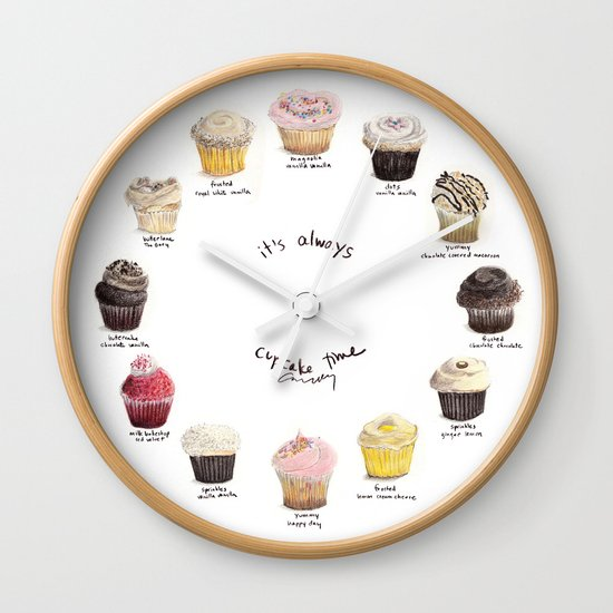 Cupcake Specimens Wall Clock