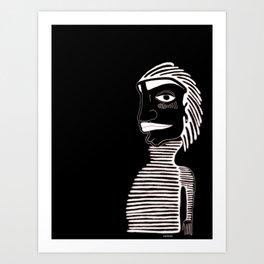 LINE GUY Art Print