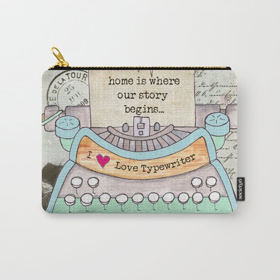 Typewriter #4 Carry-All Pouch