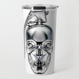 Skull grenade silver Travel Mug