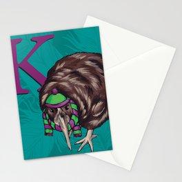 Alphabetical Birds: K Stationery Cards