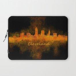 Cleveland City Skyline Hq V4 Laptop Sleeve