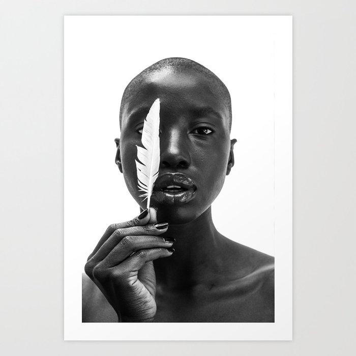 White Feather Kunstdrucke