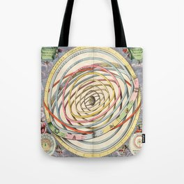 Harmonia Macrocosmica Planetary Orbits Tote Bag