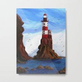 Lighthouse at the sea Metal Print