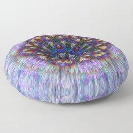 Flower of Life from chalk Floor Pillow