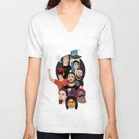 gaming V-neck T-shirts featuring Inside Gaming by Kaguesna
