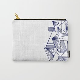 Polygon collections - blue triangle Carry-All Pouch