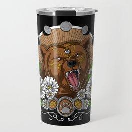 Psychedelic Bear Travel Mug