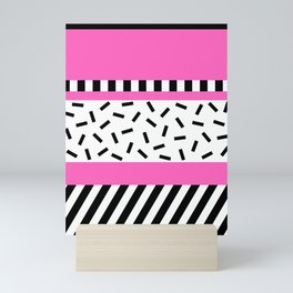 Memphis Geometric Pink Mini Art Print