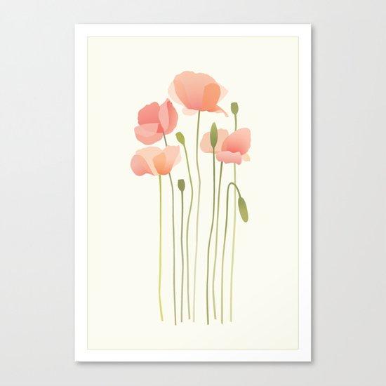 Blushing Poppies I Canvas Print