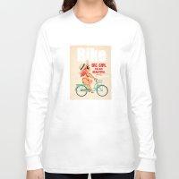 bike Long Sleeve T-shirts featuring BIKE by melivillosa