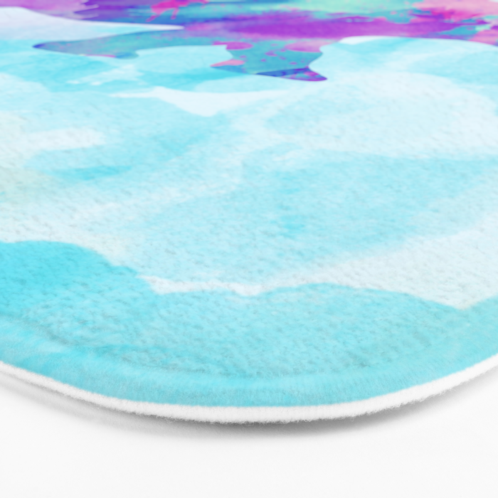Abstract Rhino B Bath Mat