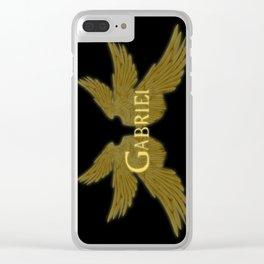Archangel Gabriel Wings Clear iPhone Case