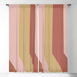 Modern Stripes in Terracotta, Rust, and Blush Blackout Curtain