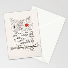 I Love Uuuuuuuu Stationery Cards