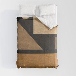 Geometric Harmony Black 03 - Minimal Abstract Comforters
