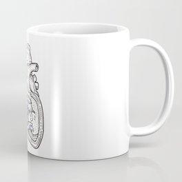 Ocean heart   Retro waves Coffee Mug