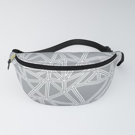 Shattered Ab Grey and White Fanny Pack
