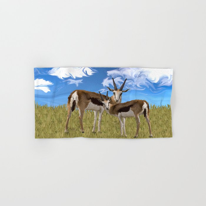 Grazing Gazelles Hand & Bath Towel
