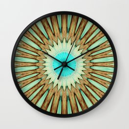 Seamless Kaleidoscope Colorful Pattern LIX Wall Clock