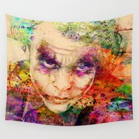 joker Wall Tapestries featuring joker by mark ashkenazi