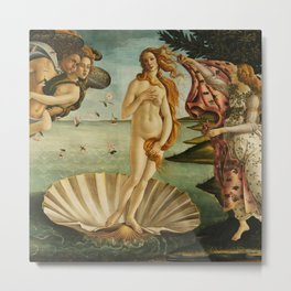 "Sandro Botticelli ""The Birth of Venus"" 1. Metal Print"