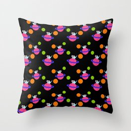 Planet Chibi Throw Pillow