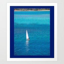 Perfect Blue Sailing Day Art Print