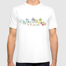 Life's a tea party MEDIUM White Mens Fitted Tee