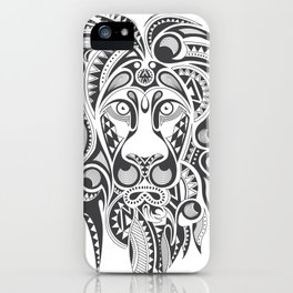 Lion | Abstract Digital Design iPhone Case